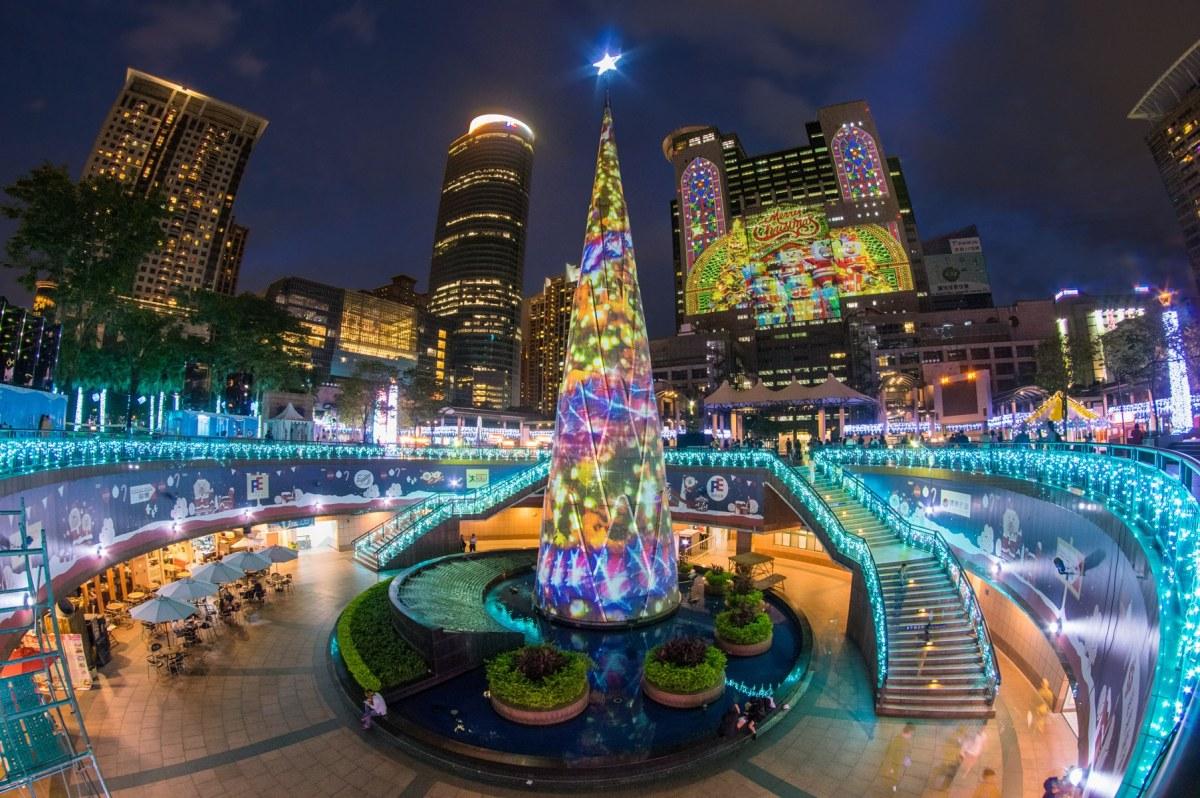 2016新北市歡樂耶誕城1114光雕秀搶先看6