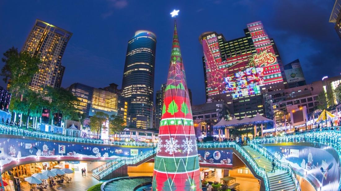 2016新北市歡樂耶誕城1114光雕秀搶先看7